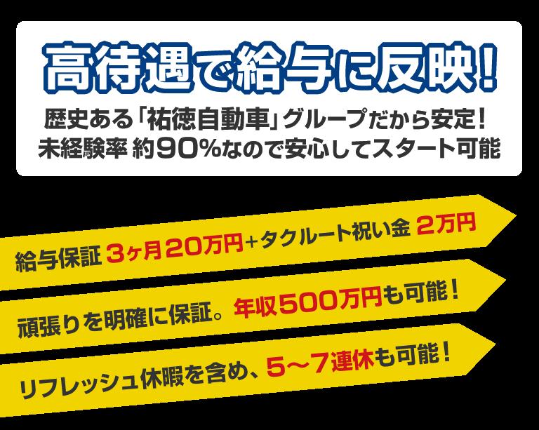 祐徳タクシー 福岡営業所のタクシー乗務員募集